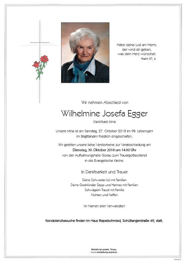 Egger Wilhelmine Josefa