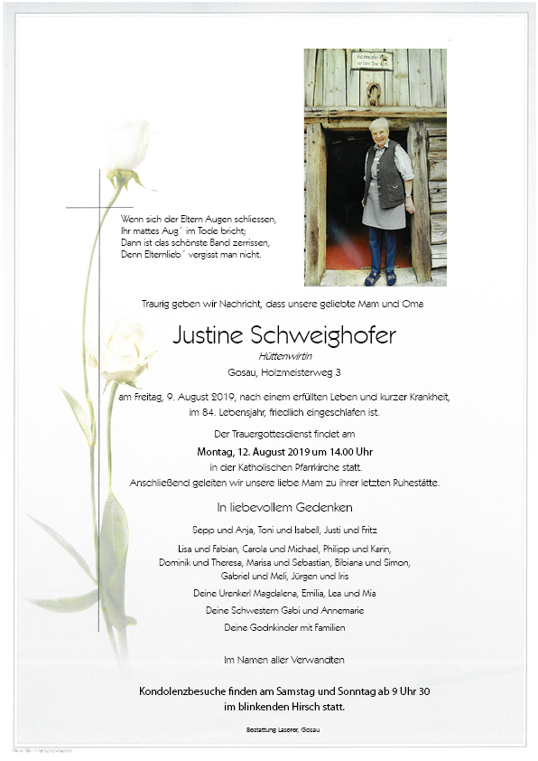 Schwaighofer Justine Parte