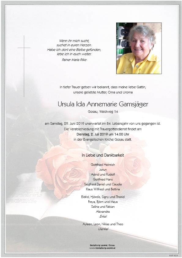 Parte Ursula Ida Annemarie Gamsjäger